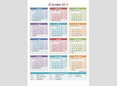 January 2019 Calendar South Africa Calendar Template