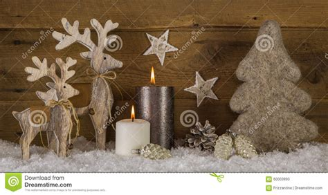 wooden white brown decoration with two burning stock photo image 60003893