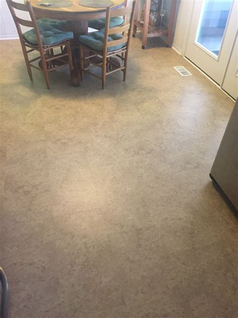 pics of us floors coretec plus amalfi beige on a kitchen and bathroom floor traditional