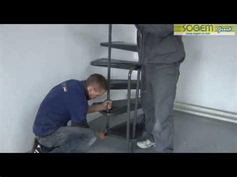 montage d un escalier h 233 lico 239 dal spirale en kit appollo