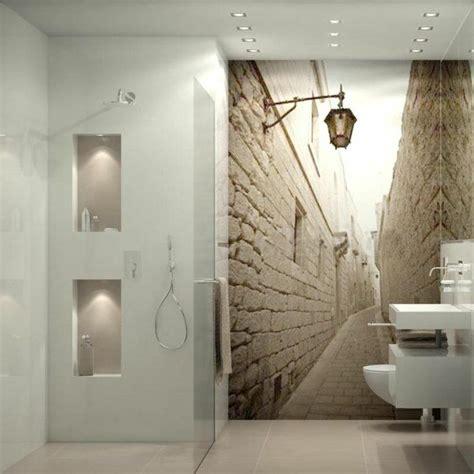 les 25 meilleures id 233 es de la cat 233 gorie salle de bains papier peint sur salle d eau
