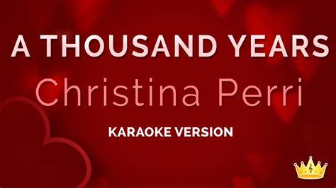 Karaoke A Thousand Years