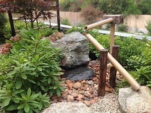 Japanisches Beet Anlegen : traditioneller japanischer garten mit bambus wasserspiele brunnen haus und garten pinterest ~ Markanthonyermac.com Haus und Dekorationen