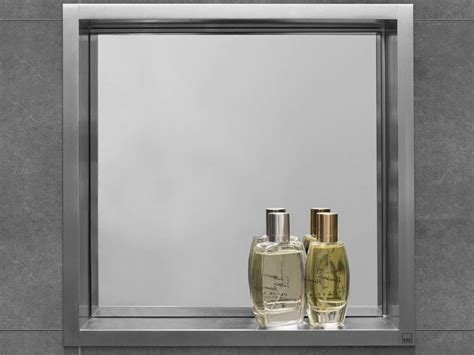 201 tag 232 re murale pour salle de bain en acier inoxydable container box wall niche with mirror by