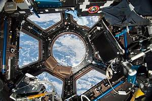 View of the ISS Cupola from Expedition 38 : space