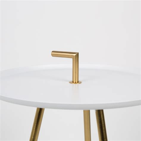 Table D'appoint Métal Laiton Rumbi By Drawer