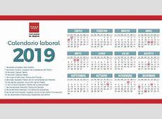 Consulta el calendario laboral 2019 en la Comunidad de