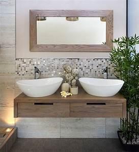 Badgestaltung Mit Pflanzen : badezimmer trend 2014 naturmaterialien holz pflanzen badezimmer einrichten bathroom ideas ~ Markanthonyermac.com Haus und Dekorationen