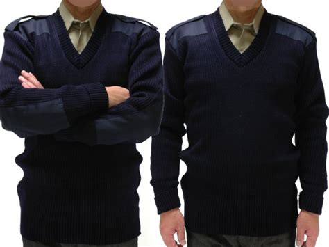 The U.s. Forces Gi V Neck Command Sweater (navy) Rothco