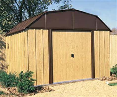 woodview 10 w x 8 d arrow metal outdoor storage shed kit