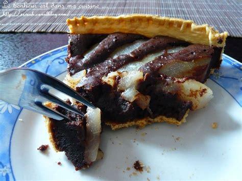 tarte poires chocolat recette