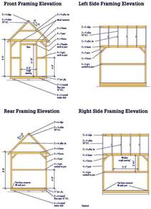 storage shed blueprints for constructing a 8 215 10 wooden shed
