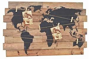 Holz Künstlich Alt Machen : nostalgie wandbild weltkarte deko wandobjekt holz schild weltatlas m klammern ~ Markanthonyermac.com Haus und Dekorationen