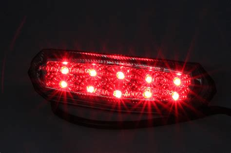 10 Led Motorcycle Atv Dirt Bike Brake Stop Running Tail Light Universal 12v New