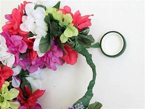 How To Make a Floral Head Wreath | how-tos | DIY