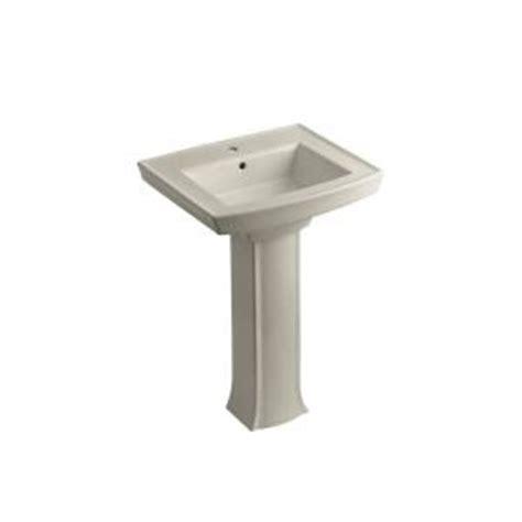Kohler Archer Pedestal Sink Home Depot by Kohler Archer Pedestal Combo Bathroom Sink In Sandbar K