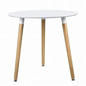 Tisch Weiß Holz : esstisch rund wei h 75cmx 80cm holz tisch retro design k chentisch ebay ~ Markanthonyermac.com Haus und Dekorationen