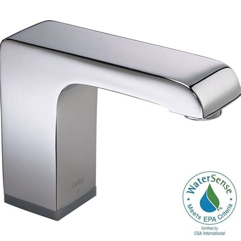 delta commercial battery powered single touchless bathroom faucet in chrome valve not