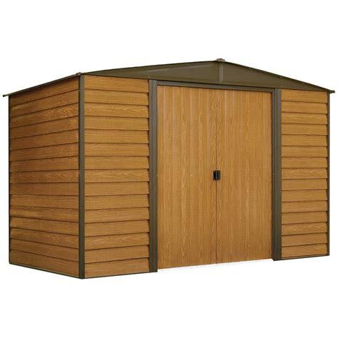 shop arrow woodridge galvanized steel storage shed common