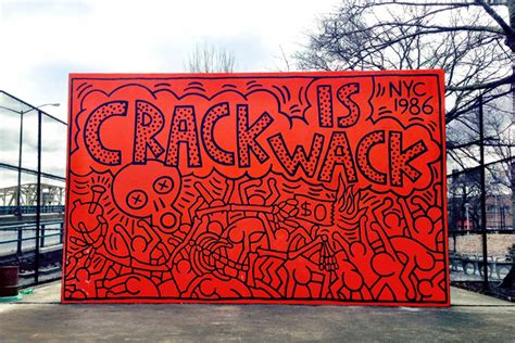 the is wack mural by keith haring 1986 harlem nyc antoinette