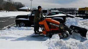 Snow plowing with Toro Dingo 525 - Mini Skid steer ...