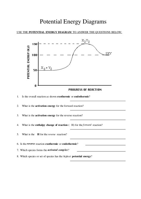 Exothermic And Endothermic Reactions Worksheet Answers Worksheets For All  Download And Share