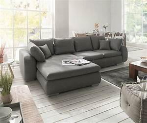 Big Sofa 240 Breit : ecksofa maxie 330x178 cm grau mit schlaffunktion m bel sofas ecksofas ~ Markanthonyermac.com Haus und Dekorationen