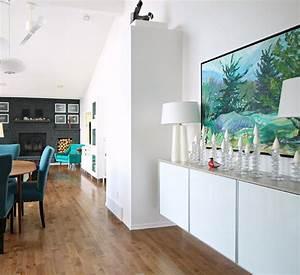 Ikea Hack Besta : diy plywood topped ikea hack floating credenza dans le lakehouse ~ Markanthonyermac.com Haus und Dekorationen