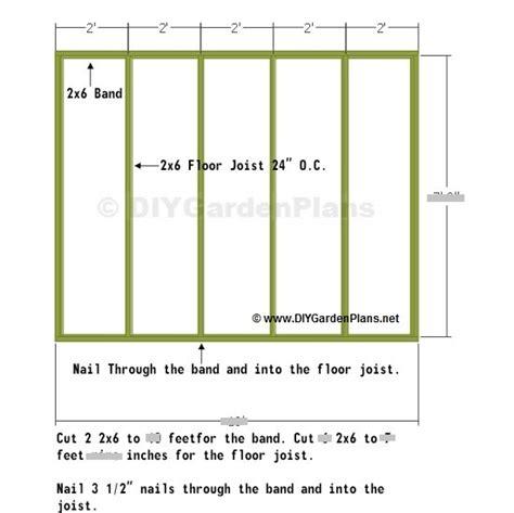 8x10 shed floor plan nolaya