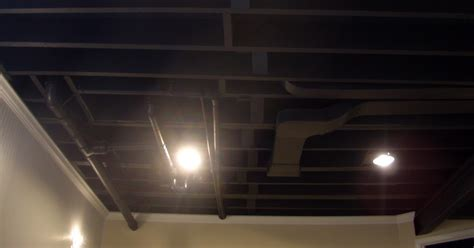 exposed basement ceiling easy home decorating ideas
