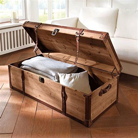 table basse 171 coffre 187 en bois brun avec beaucoup d espace de rangement 110 x larg 50 x