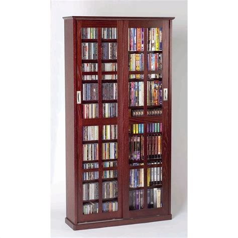 leslie dame 62 quot sliding door inlaid glass media cabinet in cherry ebay