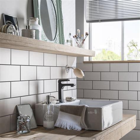 fa 239 ence mur blanc blanc astuce l 10 x l 20 cm leroy merlin