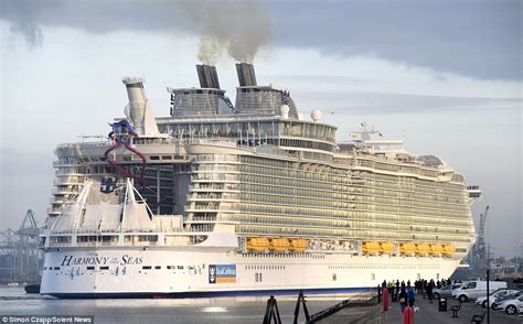 Pictures Of The Biggest Boat In The World by Harmony Of The Seas Makes Titanic Look A Minnow As It