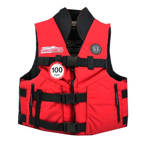 Skeeter Boats Life Vest by Mustang Life Vest Has Fleece Lining For Chilly Mornings
