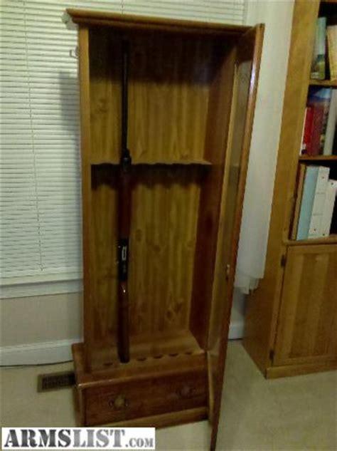armslist for sale wooden gun cabinet with glass door 125 monkey junction