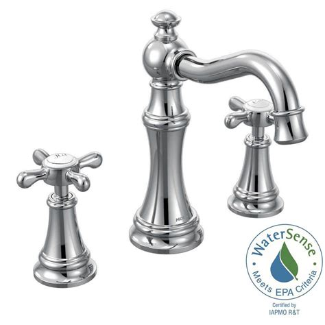 moen voss 8 in widespread 2 handle high arc bathroom faucet trim kit in rubbed bronze