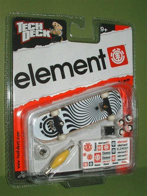 tech deck element swirl black trucks fingerboard 96mm