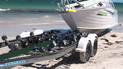 Best Boat Trailer For Beach Launching by Ledge Point Beach Launch And Retrieval Updated Video Youtube