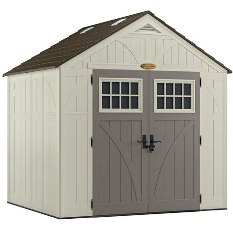 suncast tremont 174 8 ft x 7 ft resin storage shed lowe s canada