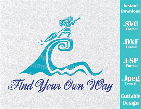 Moana Grandma Song On Boat Lyrics by Instant Download Svg Disney Inspired Princess Moana Quote