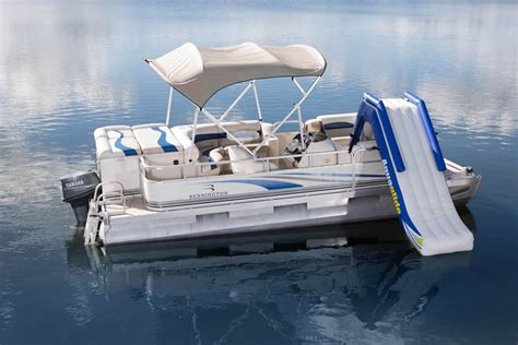 Pontoon Party Boat With Slide by The Gallery For Gt Pontoon Boats With Bathroom