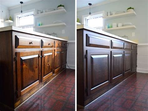 How To Stain Cabinets A Darker, Less Orangey Color Kitchen Sink Smell Mini Rustic Custom Home Depot Stl Hose Replacement Camp
