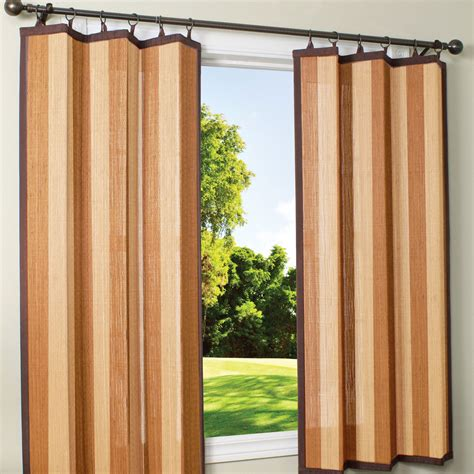 shop and espresso bamboo outdoor curtain 40 x 63