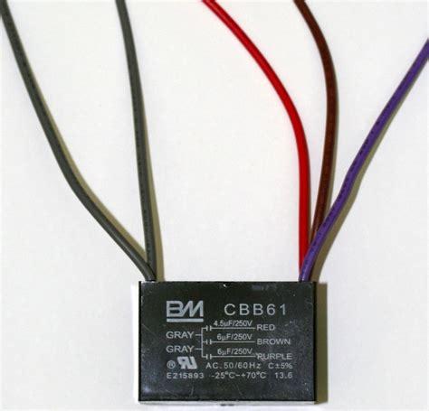 bm ceiling fan capacitor cbb61 4 5uf 6uf 6uf 5 wires ebay
