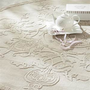 Runder Teppich Wolle : runder kurzflorteppich sculpture aus wolle d 200 cm ecru maisons du monde ~ Markanthonyermac.com Haus und Dekorationen