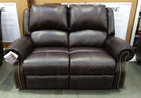 berkline reclining leather loveseat costco