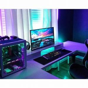 Gaming Zimmer Ideen : 132 besten gaming setup bilder auf pinterest b ros computer und gamer zimmer ~ Markanthonyermac.com Haus und Dekorationen