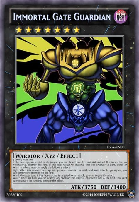 immortal gate guardian advanced card design yugioh
