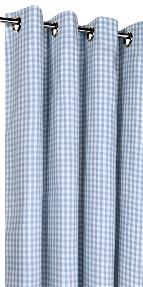 rideau vichy sur mesure rideaux vichy bleu gris